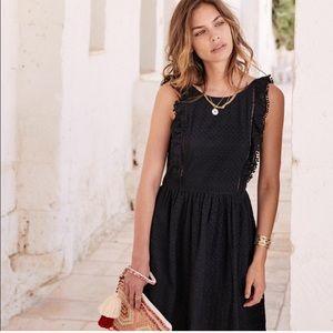 NWT Sezane Calie Lace Dress Black